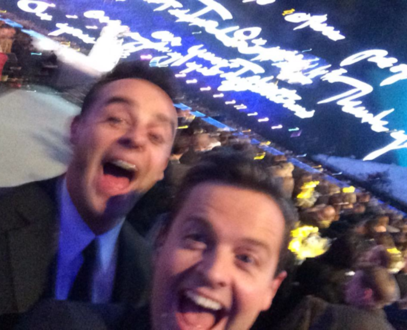 Ant and Dec messing around