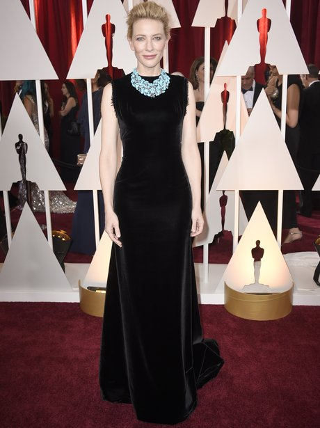 Cate Blanchett in a black dress on the red carpet