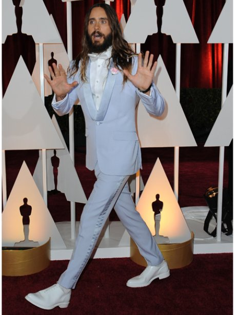 Jared Leto in a lilac suit