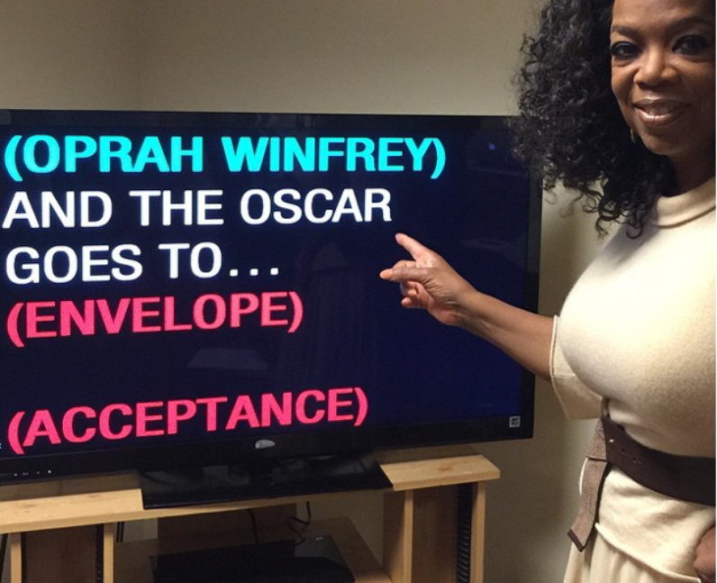 Outtakes from the Oscars