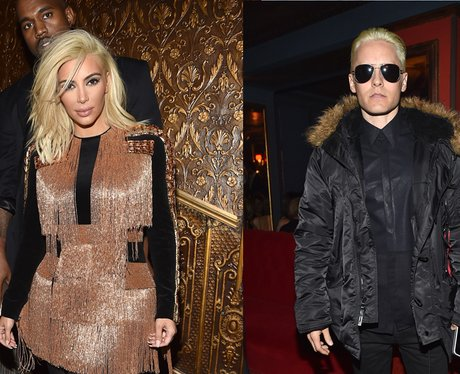 blonde Kim Kadashian and jared leto
