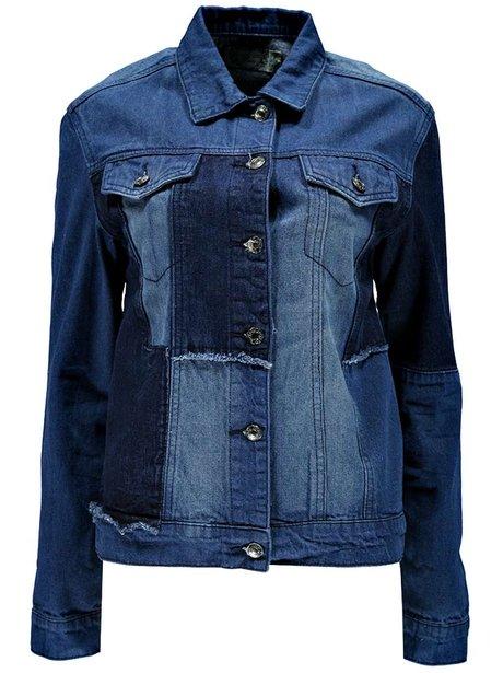 Boohoo Alex Patch Work Denim Jacket, £25