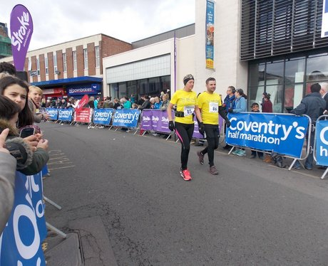 Cheering Point at Cov Half Marathon!