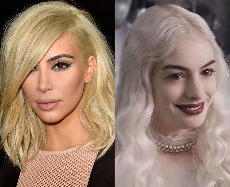 Kim Kardashian's Hair Anne Hathaway in Alice in Wo