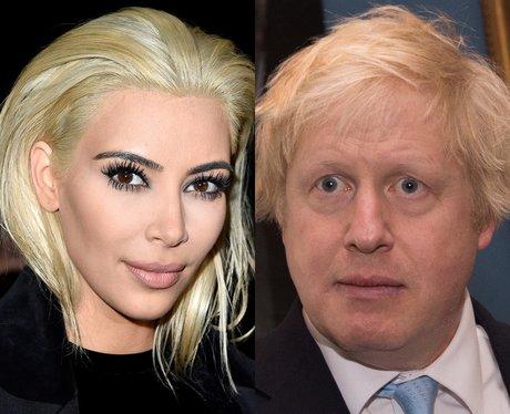Kim Kardashian's Hair Boris Johnson