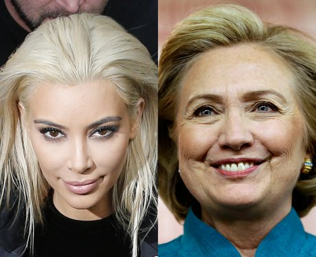 Kim Kardashian's Hair Hillary Rodham Clinton