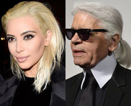 Kim Kardashian's Hair Karl Lagerfeld