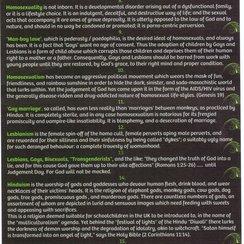 Homophobic Leaflet