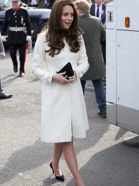 Kate, Duchess of Cambridge arrives at Downton Abbe