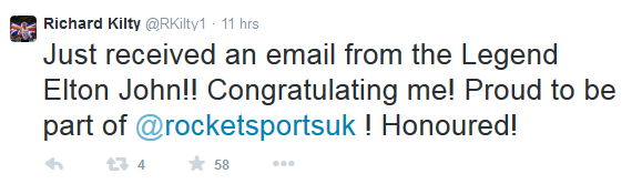 Stockton sprinter Richard Kilty tweet 1