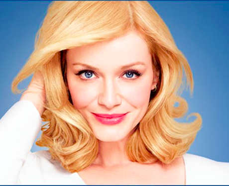 Christina Hendricks with blonde dyed hair
