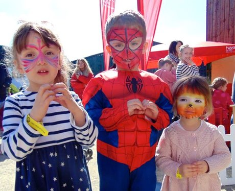 It was Spiderman's first time to Folly Farm today!