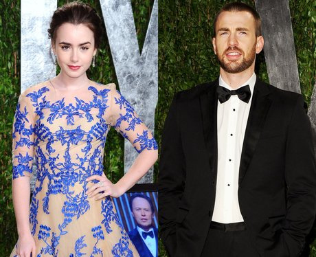 Lily Collins and Chris Evans