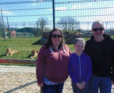 This family are lucky enough to visit Folly Farm a