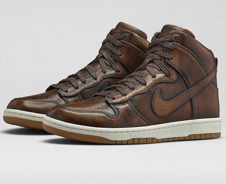 NikeLab Lunar Dunk High Burnished Shoes, £135