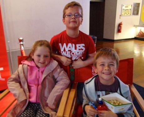 Three siblings looking forward to getting their fa