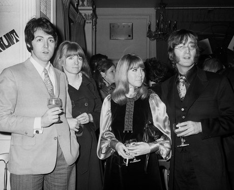 John Lennon And Cynthia With Paul McCartney His Then Girlfriend Jane Asher In 1968