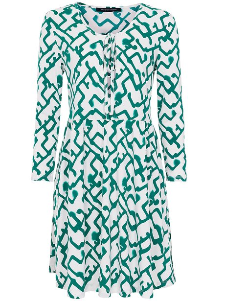 French Connection Downtown Grid Flared Dress, £95