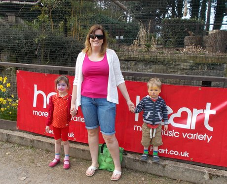 two children and mum by heart banner