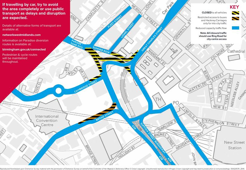Birmingham paradise area redevelopment road map