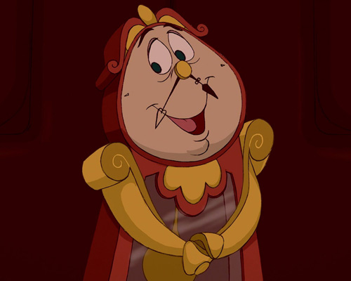 Cogsworth from beauty and the beast