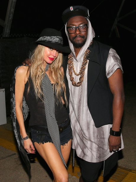 Fergie and Will.I.Am at Coachella Festival 2015