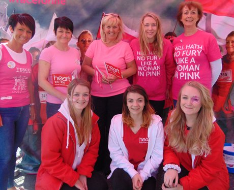 The lovely Race for Life and Tesco ladies get to know The