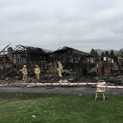 Redhill Aerodrome Fire Remains