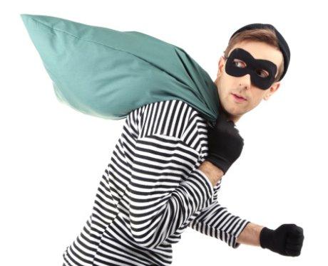 Robber in stripy top
