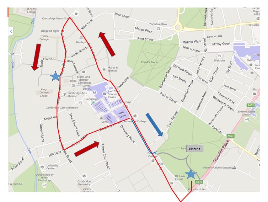 Cambridge Protest Map