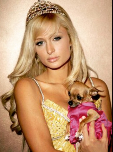 Paris Hilton wearing a tiara