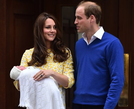 William and Kate with the new royal baby