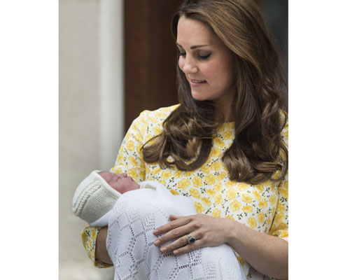Kate middleton presents royal baby to the world