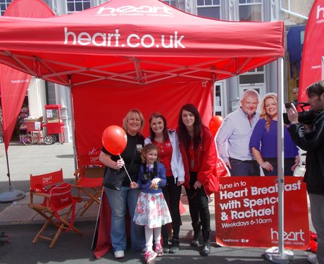 listeners visiting the Heart tent
