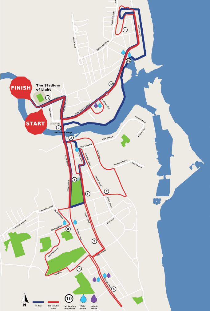 Sunderland marathon route