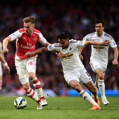 Aaron Ramsey and Neil Taylor