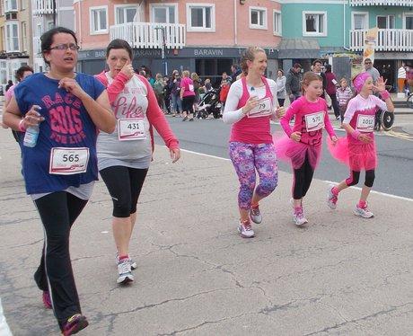 Ladies running in the race