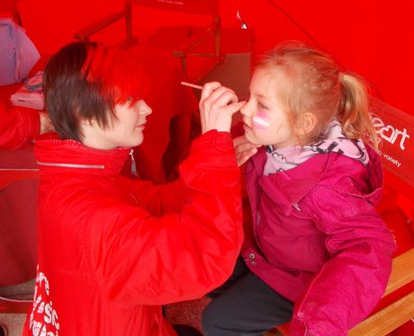 A Heart Angel face painting