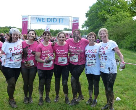 Race For Life Pretty Muddy - after the race!