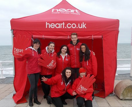 Street team in the Heart tent