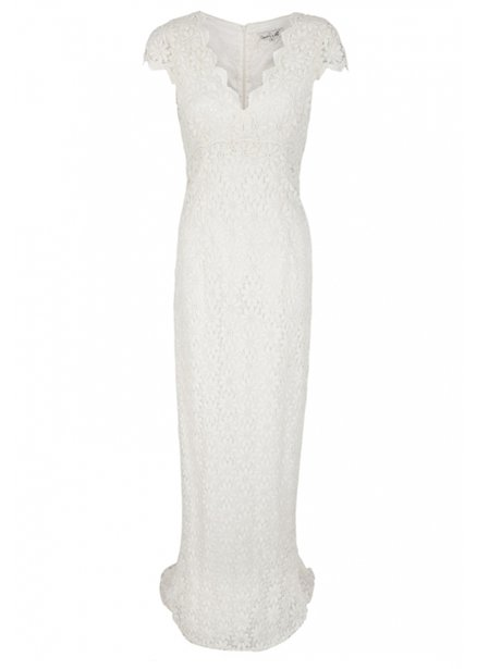 A long lace gown
