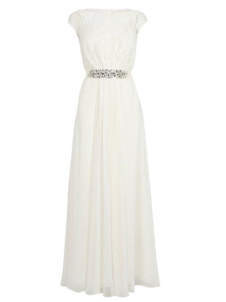 A long cream gown