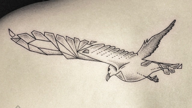 Line Art Tattoos : Magical tattoos that are totally out of this world heart