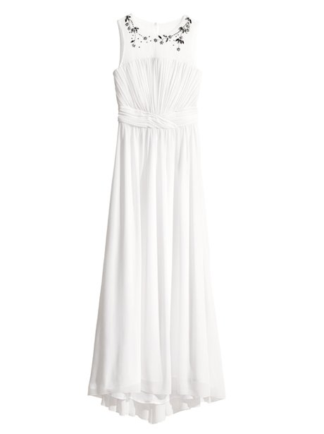 A long white gown