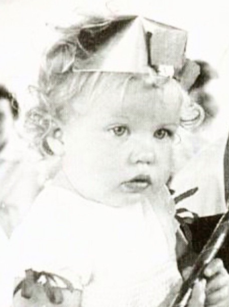 Kylie as a young girl