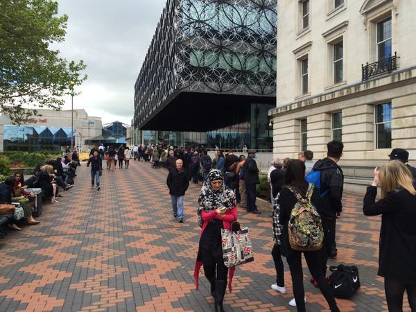 Queue at Library of Birmingham
