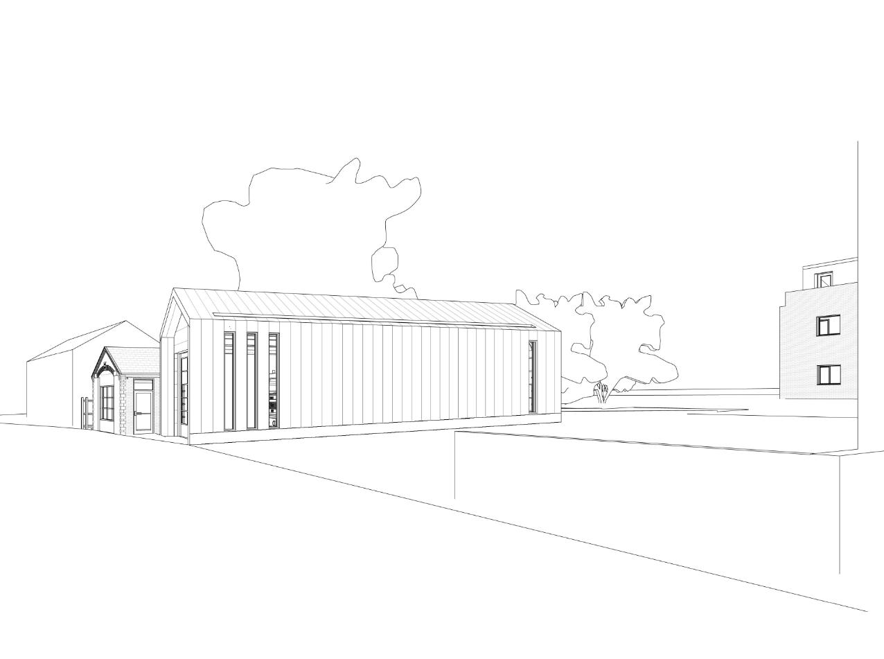 Yaxley Fire Station Sketch 2