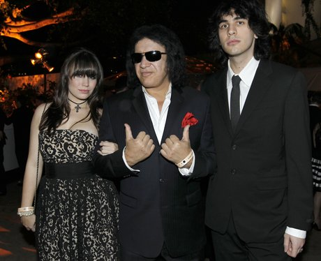 Gene Simmons with children Sophie and Nick Simmons