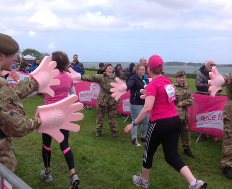 army cadets high fiving ladies