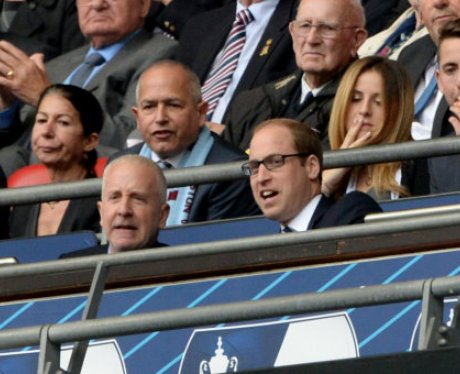 Prince Willam watches Villa at Wembley FA Cup fina